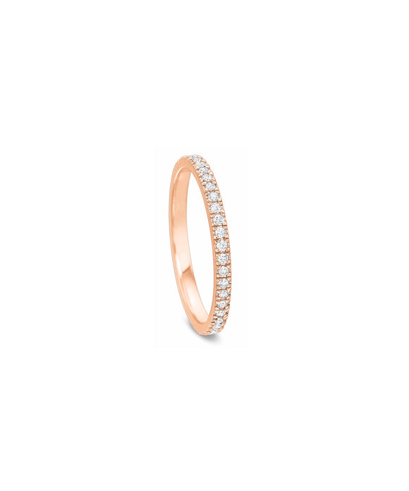 .30 carat TW eternity band in rose gold