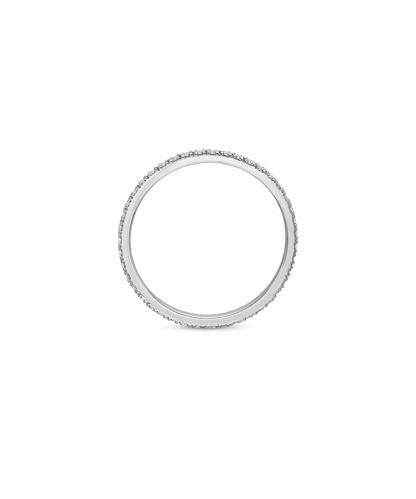 .30 carat TW eternity band in white gold