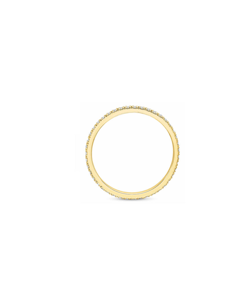.30 carat TW eternity band in yellow gold