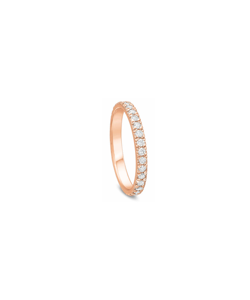 .50 ct TW eternity band in rose gold - Lesley Ann Jewels