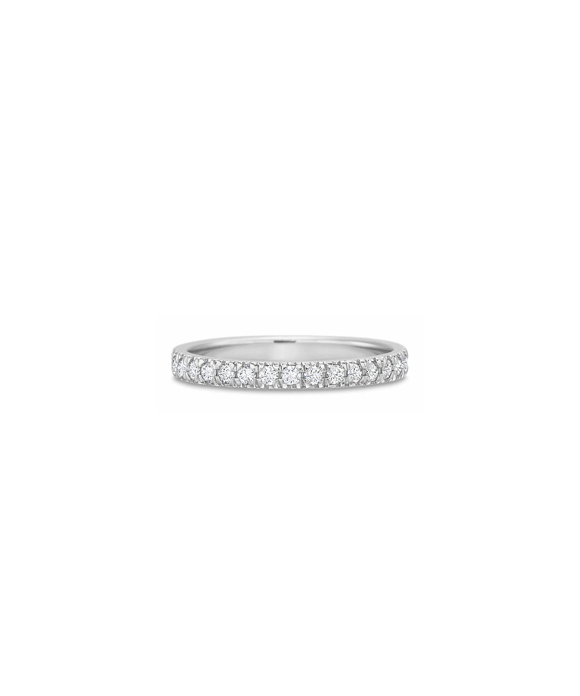 White Gold Round Diamond Eternity Band - Lesley Ann Jewels