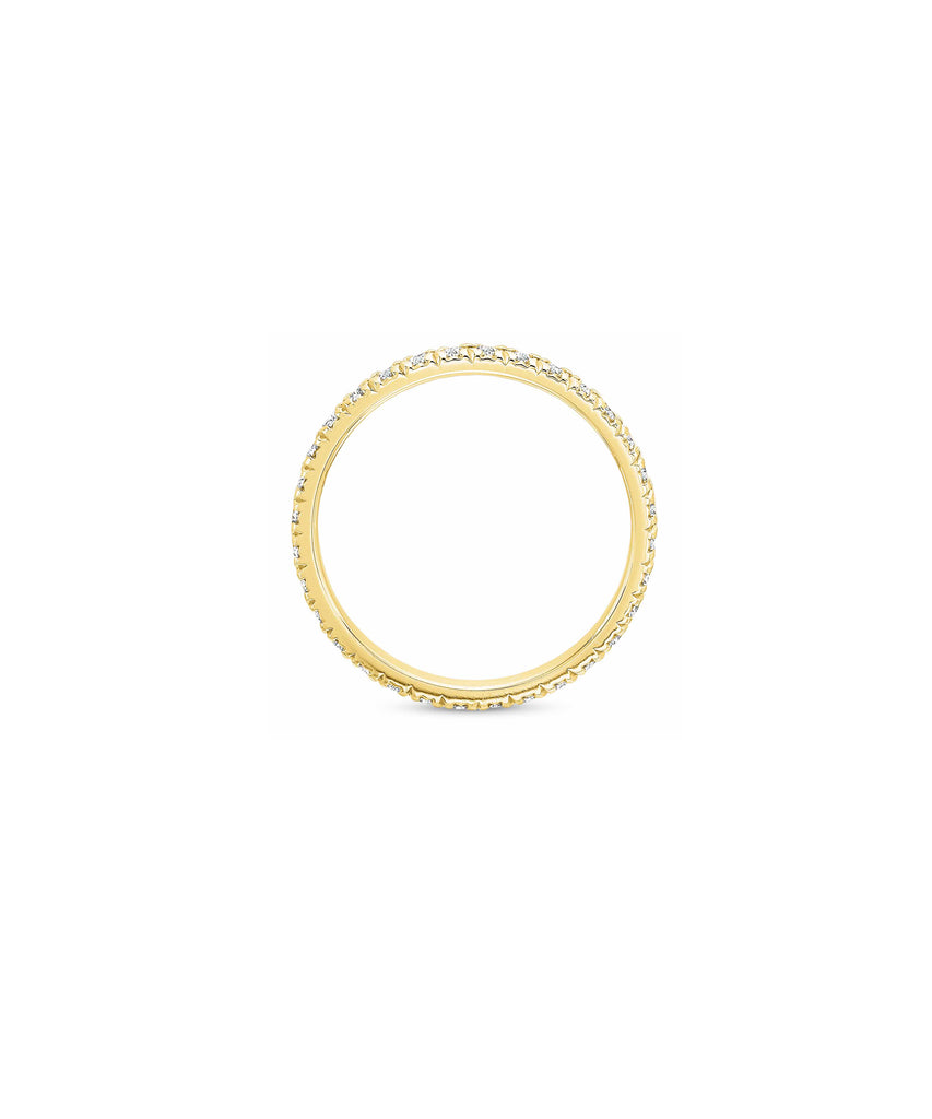 Medium Yellow Gold Diamond Eternity Band - Lesley Ann Jewels