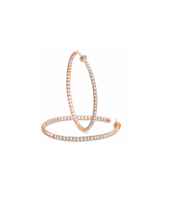 Rose Gold In and Out Hoops - Lesley Ann Jewels