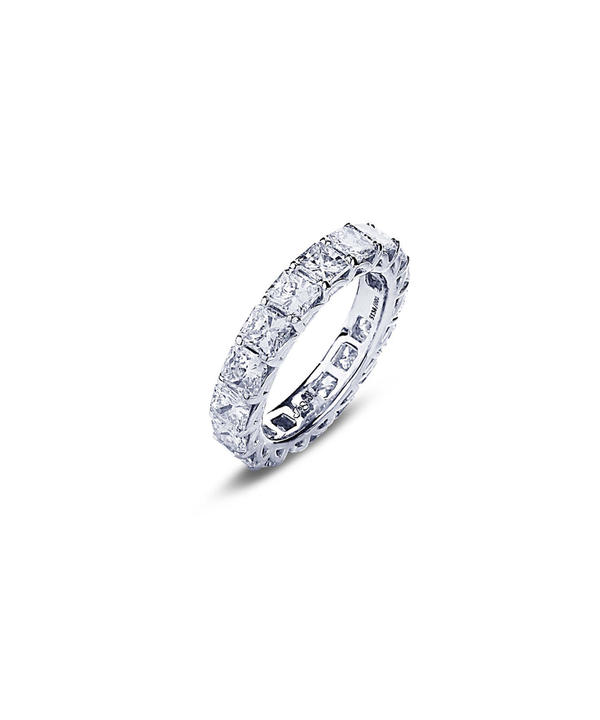 Radiant cut diamond eternity band - Lesley Ann Jewels