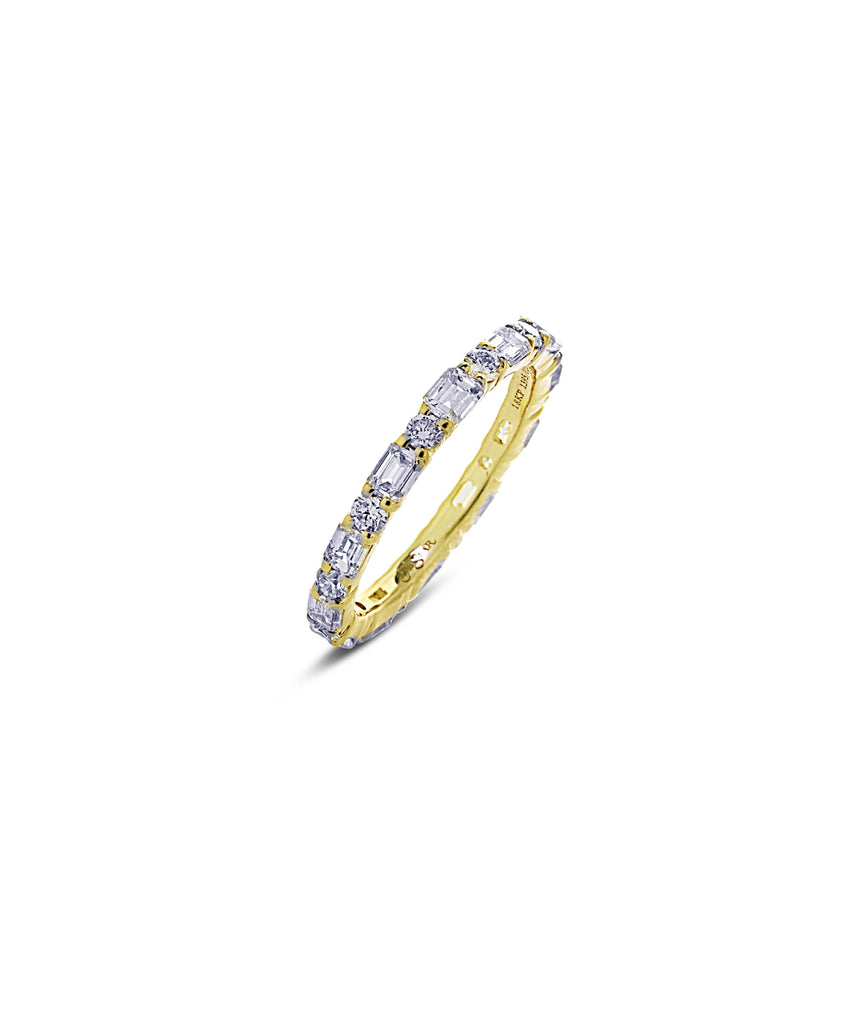 Eternity ring in yellow gold - Lesley Ann Jewels