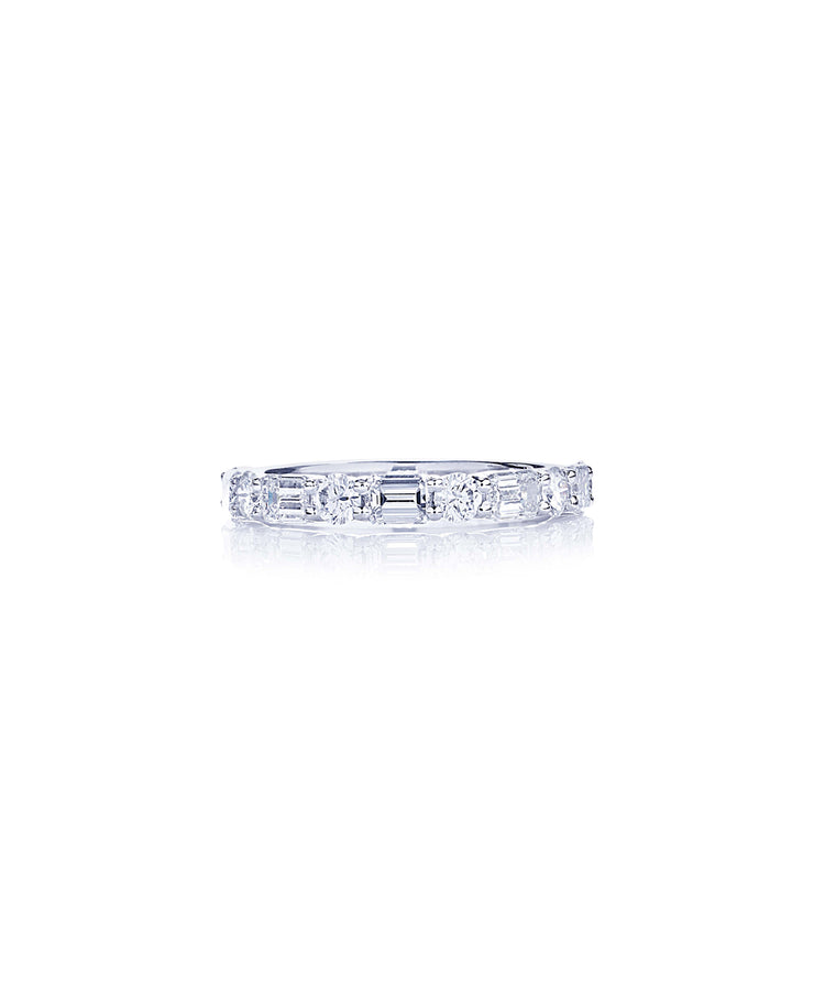 Platinum 1/2 round band