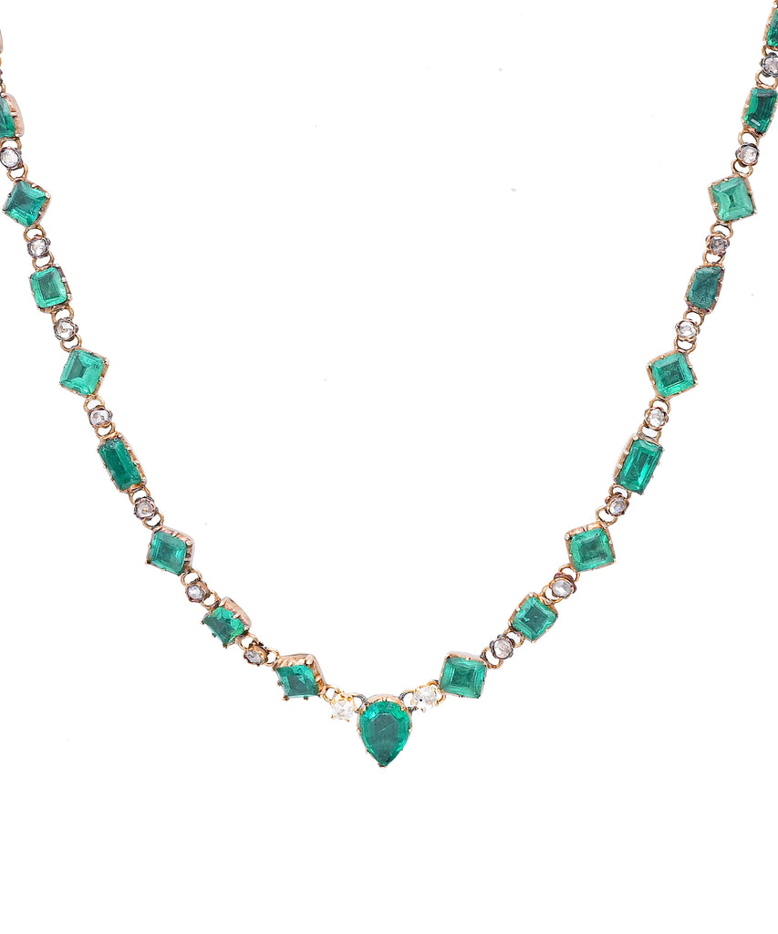 Antique Emerald Necklace - Lesley Ann Jewels