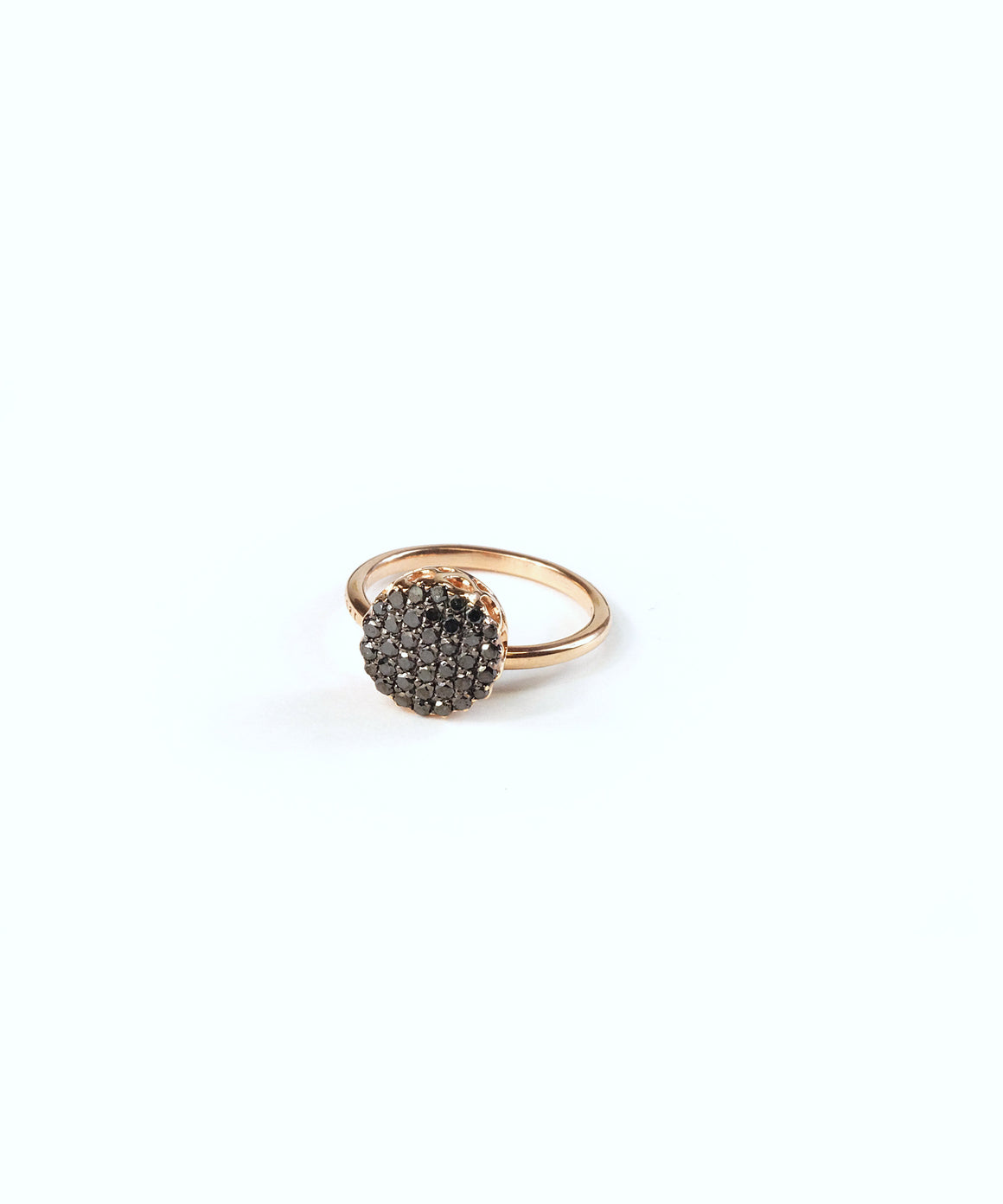 Black diamond stack ring