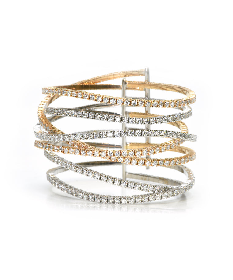 Seven row wave bracelet - Lesley Ann Jewels