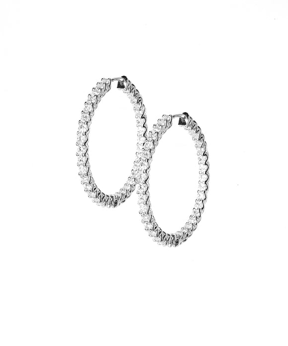 White gold Lattice earrings