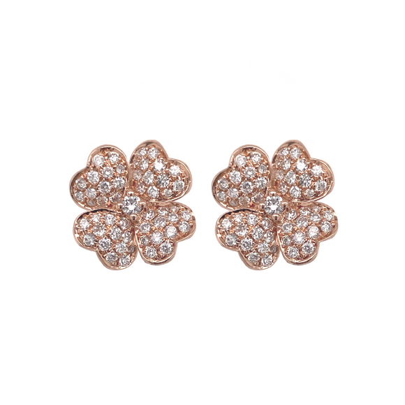 Four Leaf Clover Studs - Lesley Ann Jewels