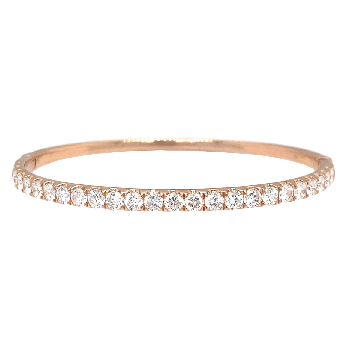 Half-Way Oval Hinged Bangle - Lesley Ann Jewels