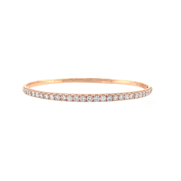 Single Row Hinge Bangle - Lesley Ann Jewels