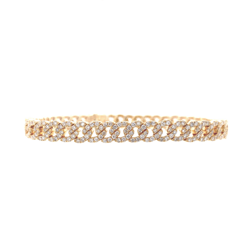 Yellow Gold Diamond Link Bracelet - Lesley Ann Jewels