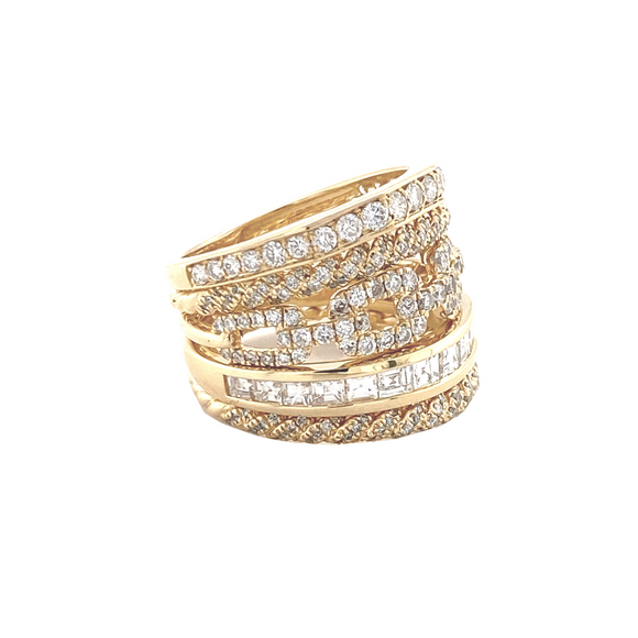 Five Banded Ring - Lesley Ann Jewels