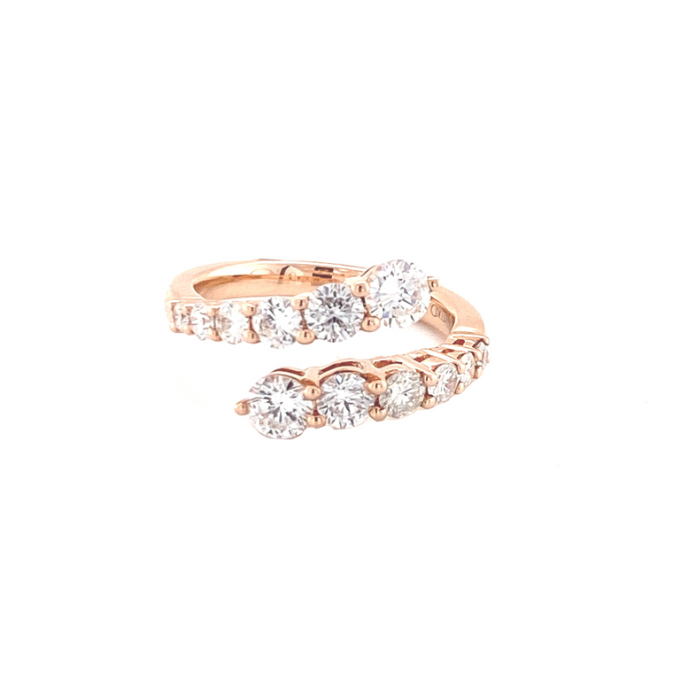 Diamond Open Ring - Lesley Ann Jewels