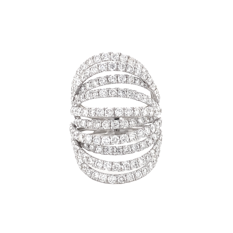 Multi-Banded Wide Ring - Lesley Ann Jewels