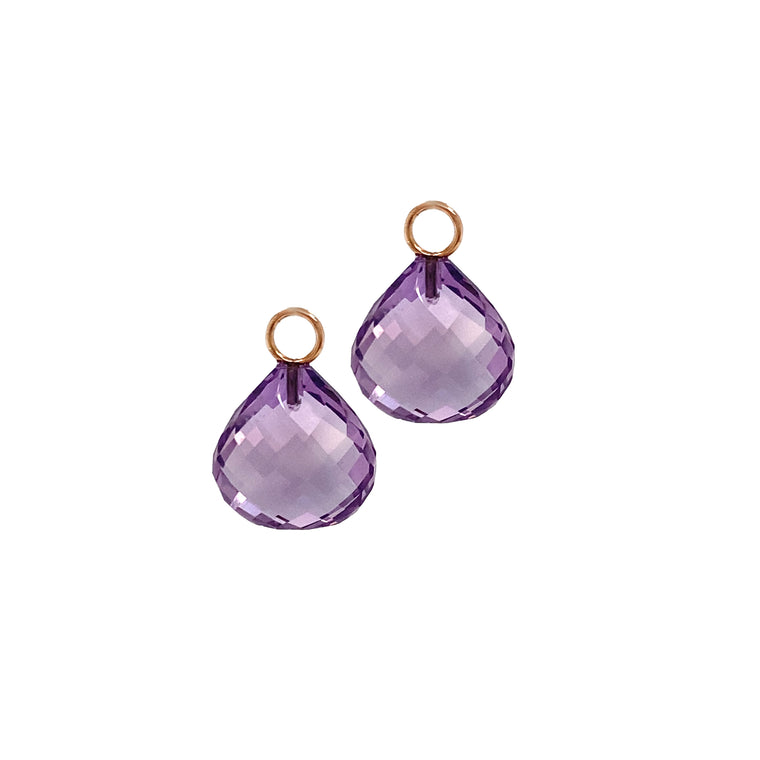 Amethyst Earring Charms