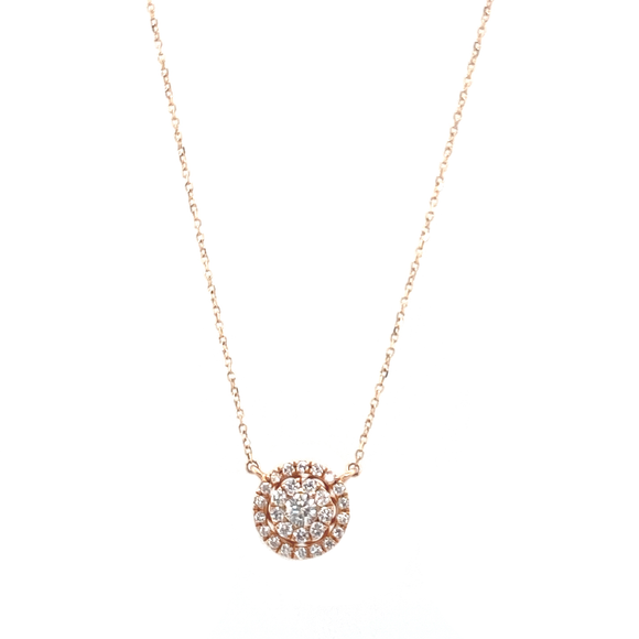 Circular Diamond Pendant - Lesley Ann Jewels