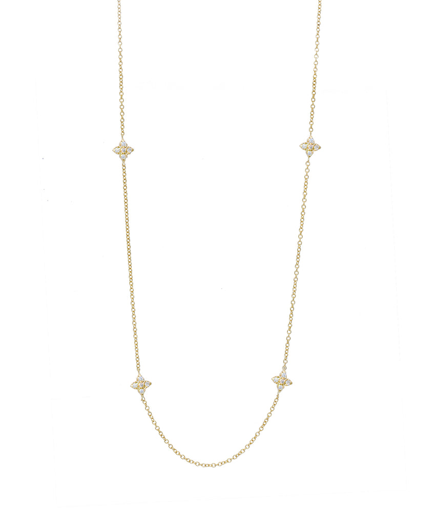 Yellow Gold Chain with Cross Stations - Lesley Ann Jewels