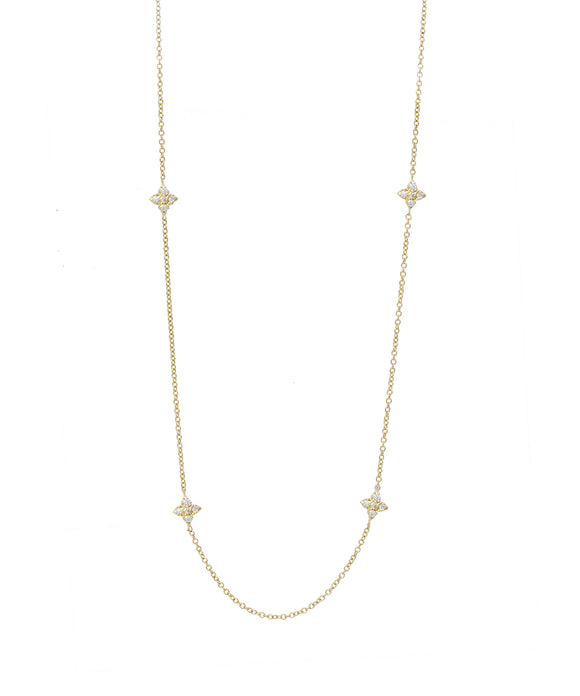 Yellow Gold Chain with Cross Stations