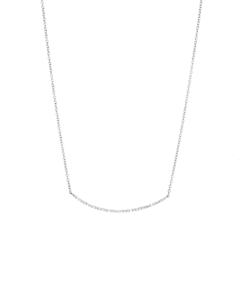 Bar necklace in white gold