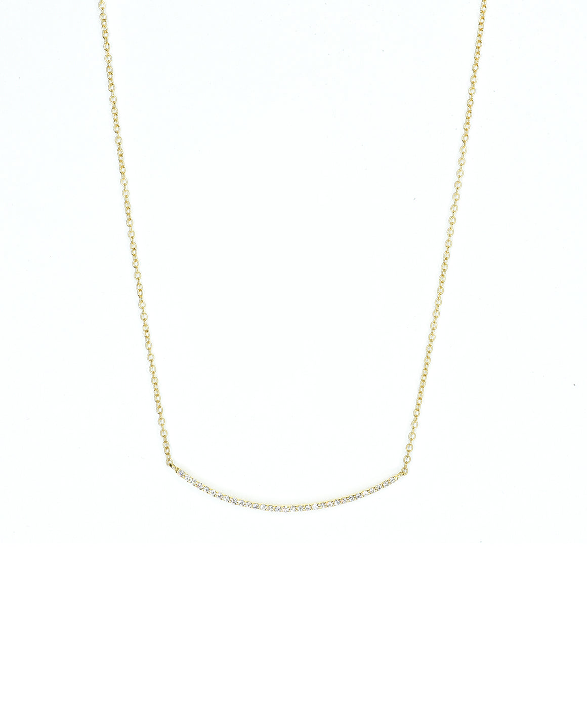 Bar necklace in yellow gold
