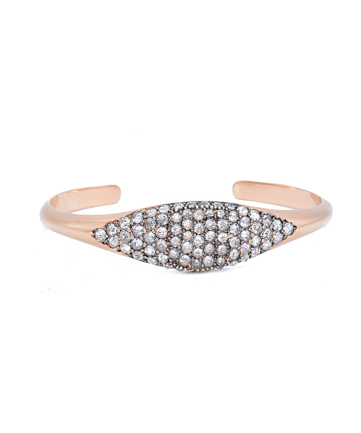 Grey diamond cuff in rose gold