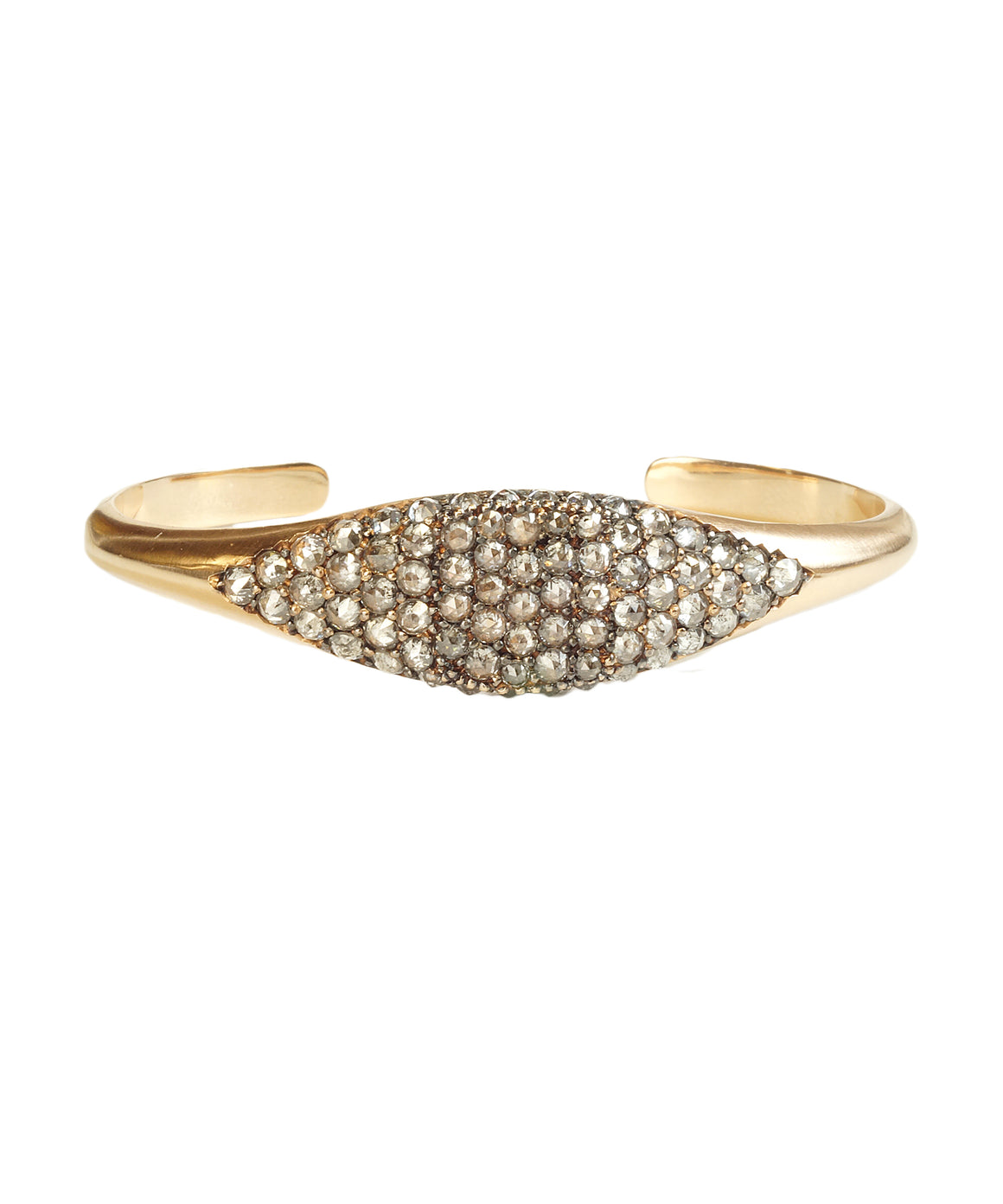 Grey diamond cuff bracelet