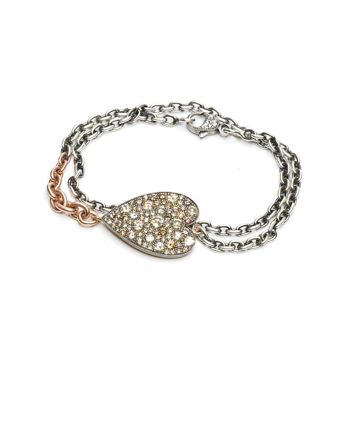 """Ten Table"" heart bracelet - Lesley Ann Jewels"