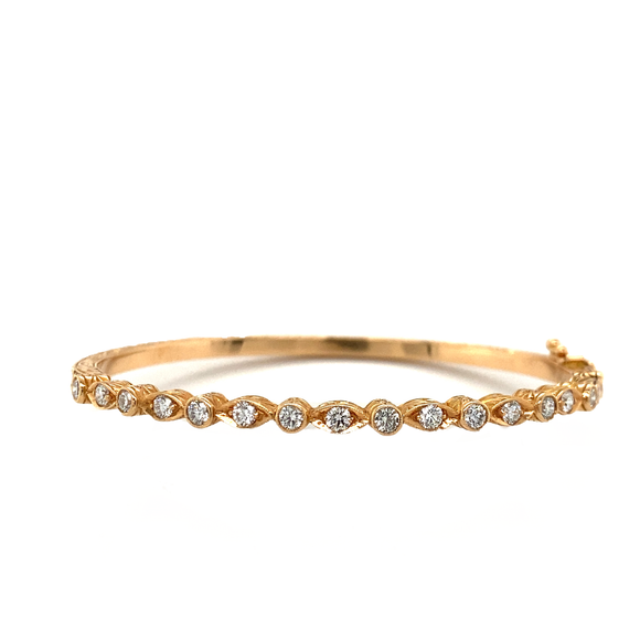 Marquis Diamond Rose Gold Bangle - Lesley Ann Jewels