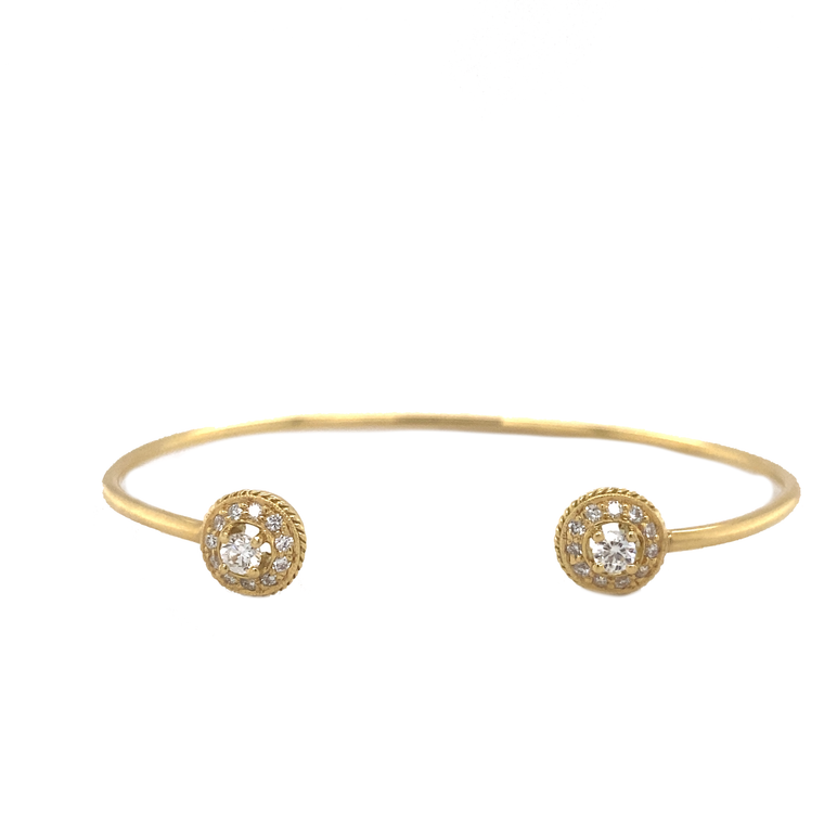 Pave Open Bangle - Lesley Ann Jewels