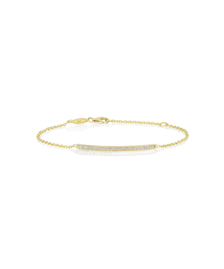 Bar bracelet in yellow gold