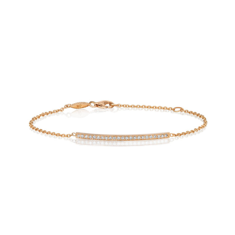 Bar bracelet in rose gold - Lesley Ann Jewels