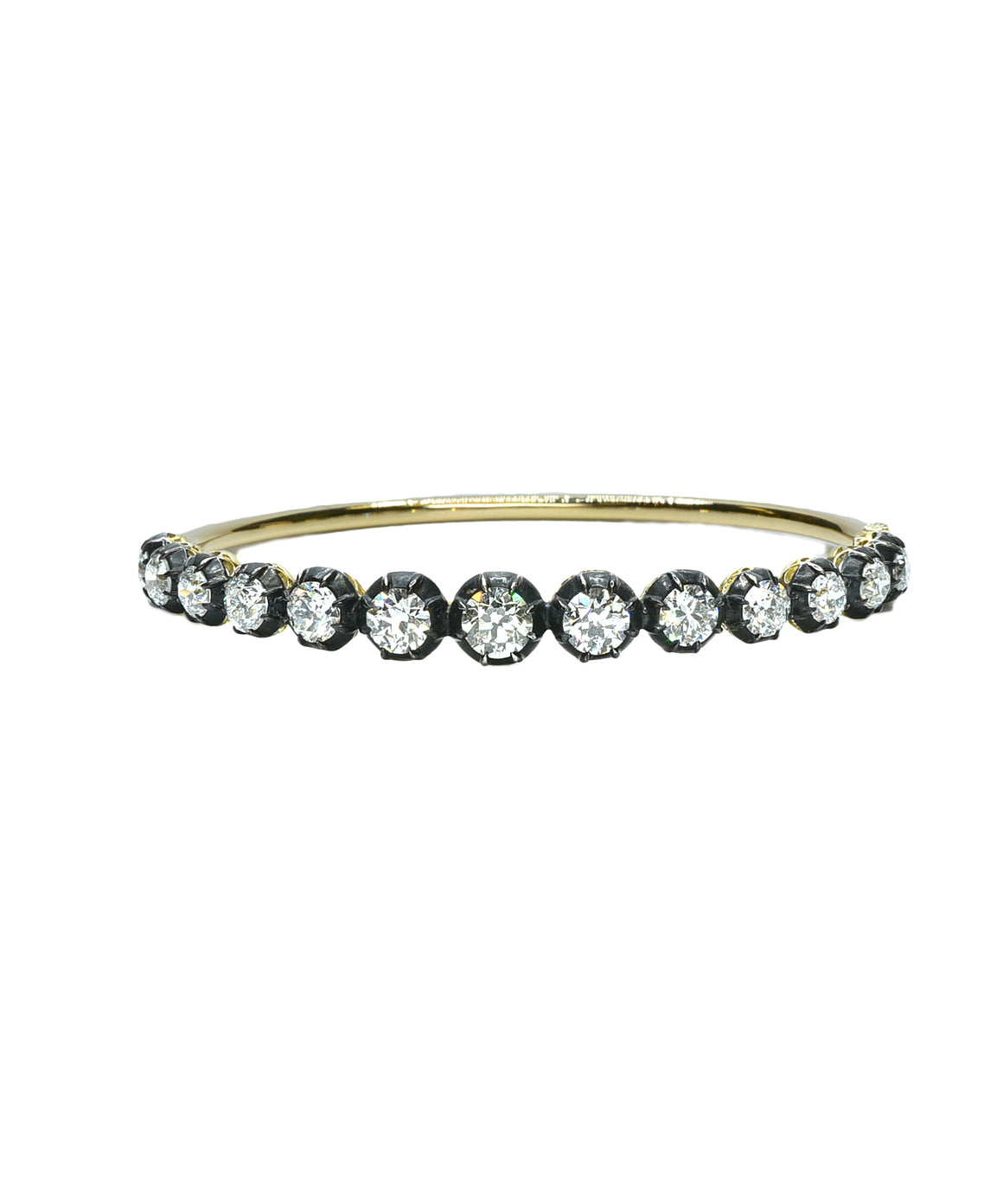 Bangle bracelet with Old European cut diamonds