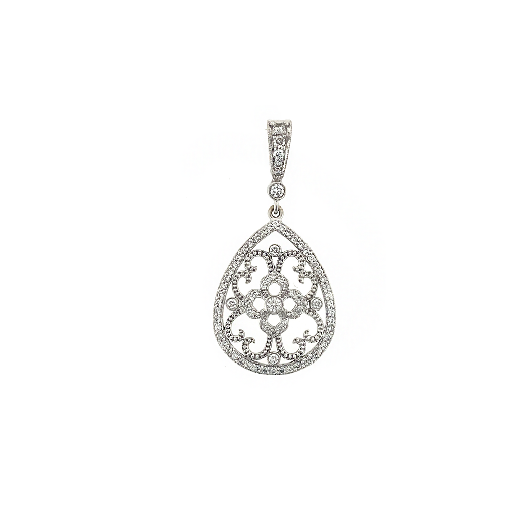 Diamond Lace Pear Shape Enhancer - Lesley Ann Jewels