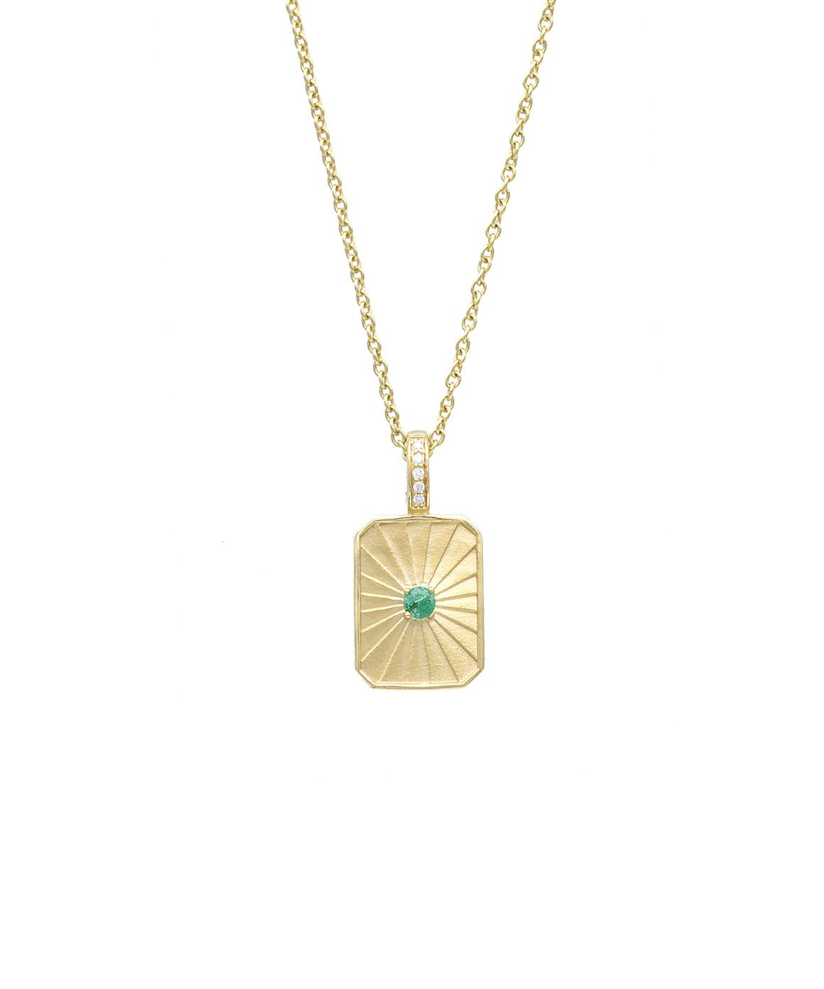 Rectangular Medallion with Emerald