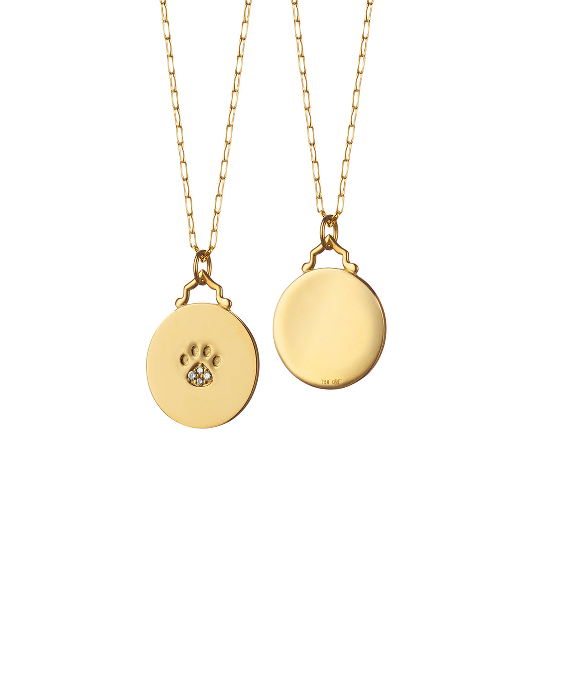 Pawprint charm on chain