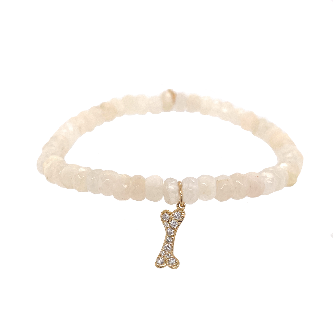 Dog Bone Charm Bracelet - Lesley Ann Jewels