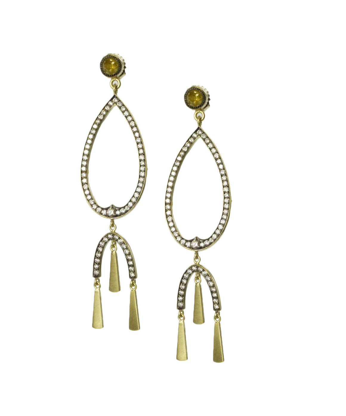 Open tassel earrings