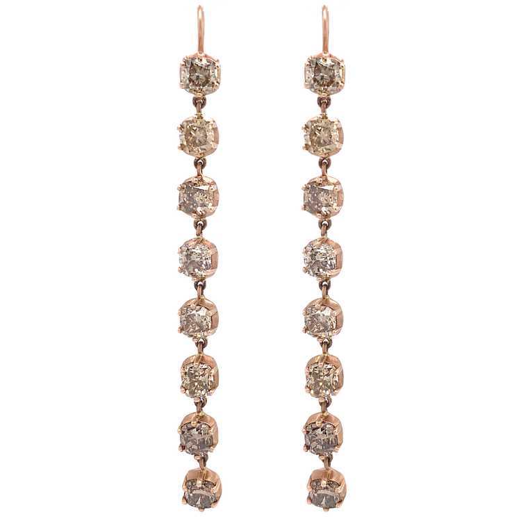 Champagne Pink Earrings - Lesley Ann Jewels