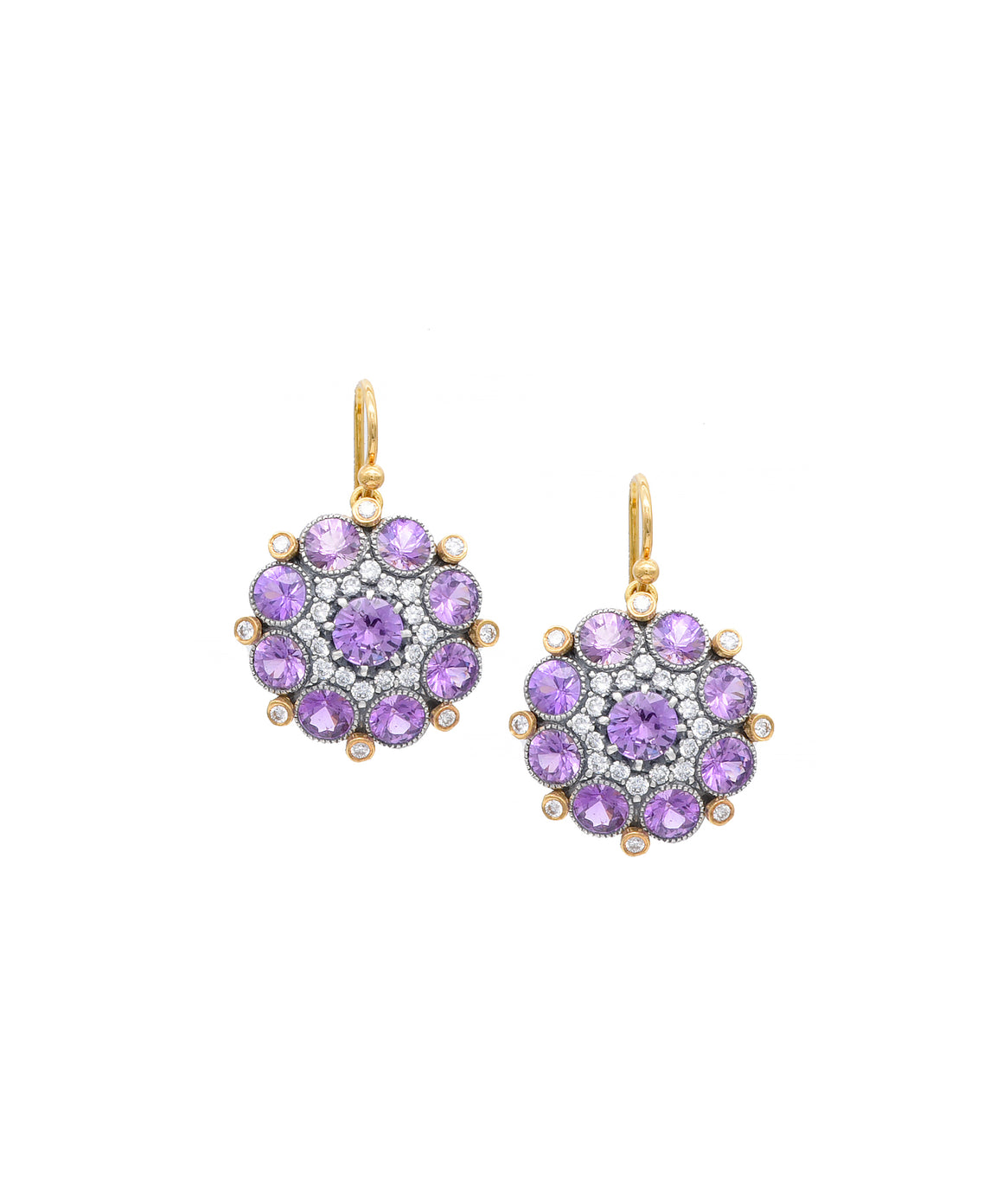 Purple Sapphire Cupcake earrings