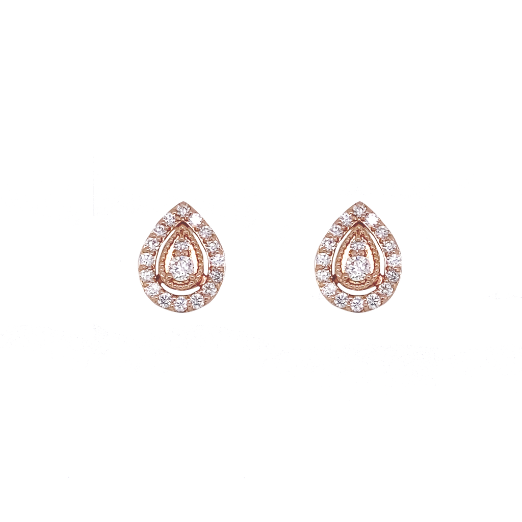 Pear Diamond Earrings - Lesley Ann Jewels