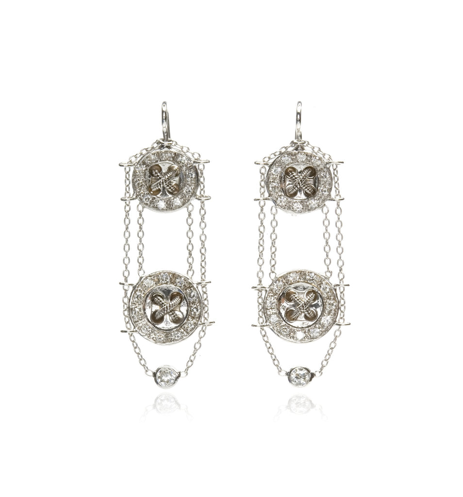 Snake Knot Earrings With Diamonds - Lesley Ann Jewels
