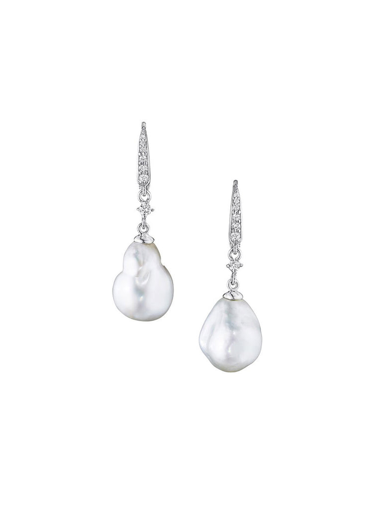 Baroque Pearl Drop Earrings - Lesley Ann Jewels