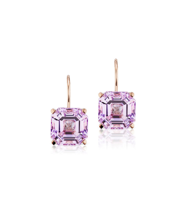 Twinkle Twinkle drop earrings with Rose de France