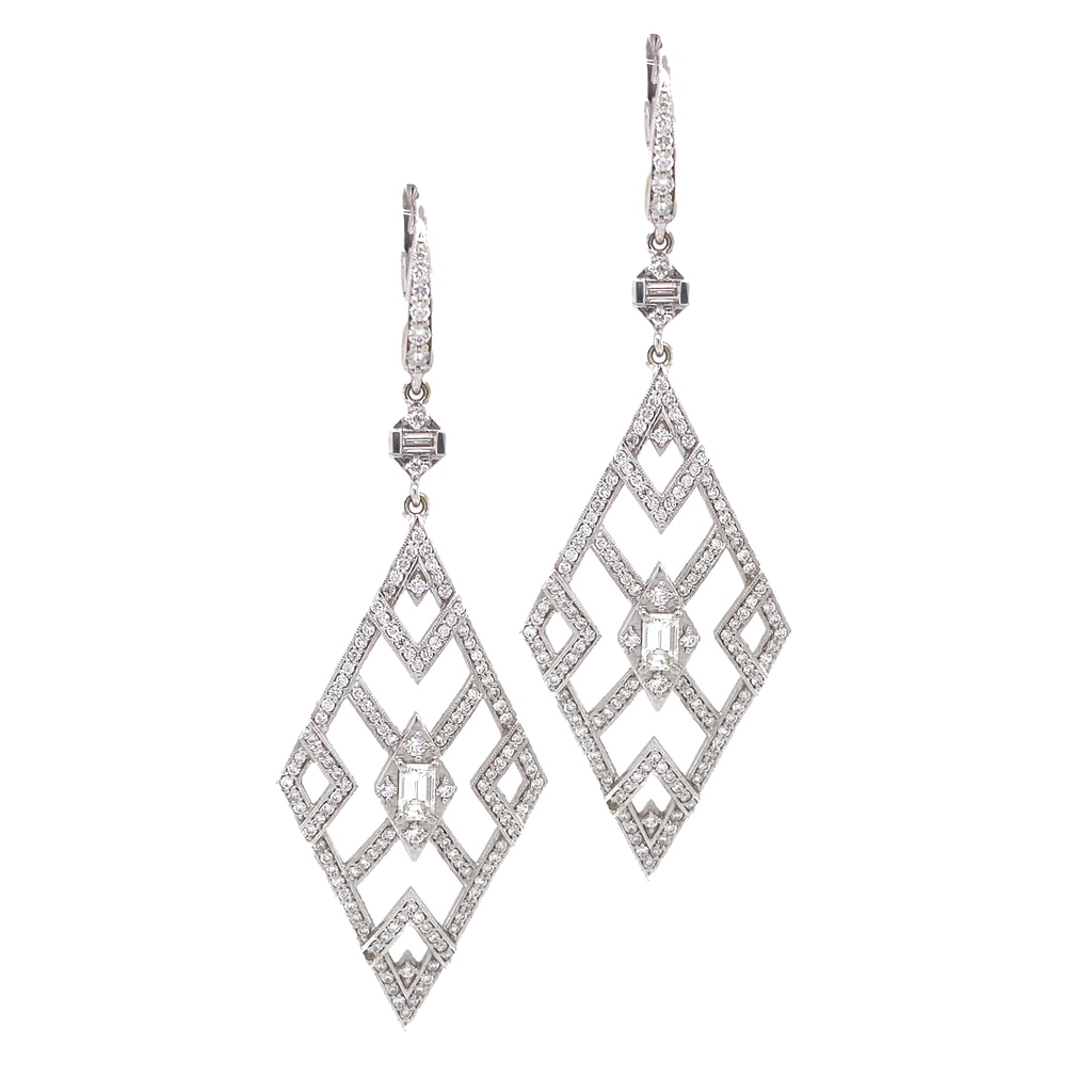 Cut Out Art Deco Earrings - Lesley Ann Jewels