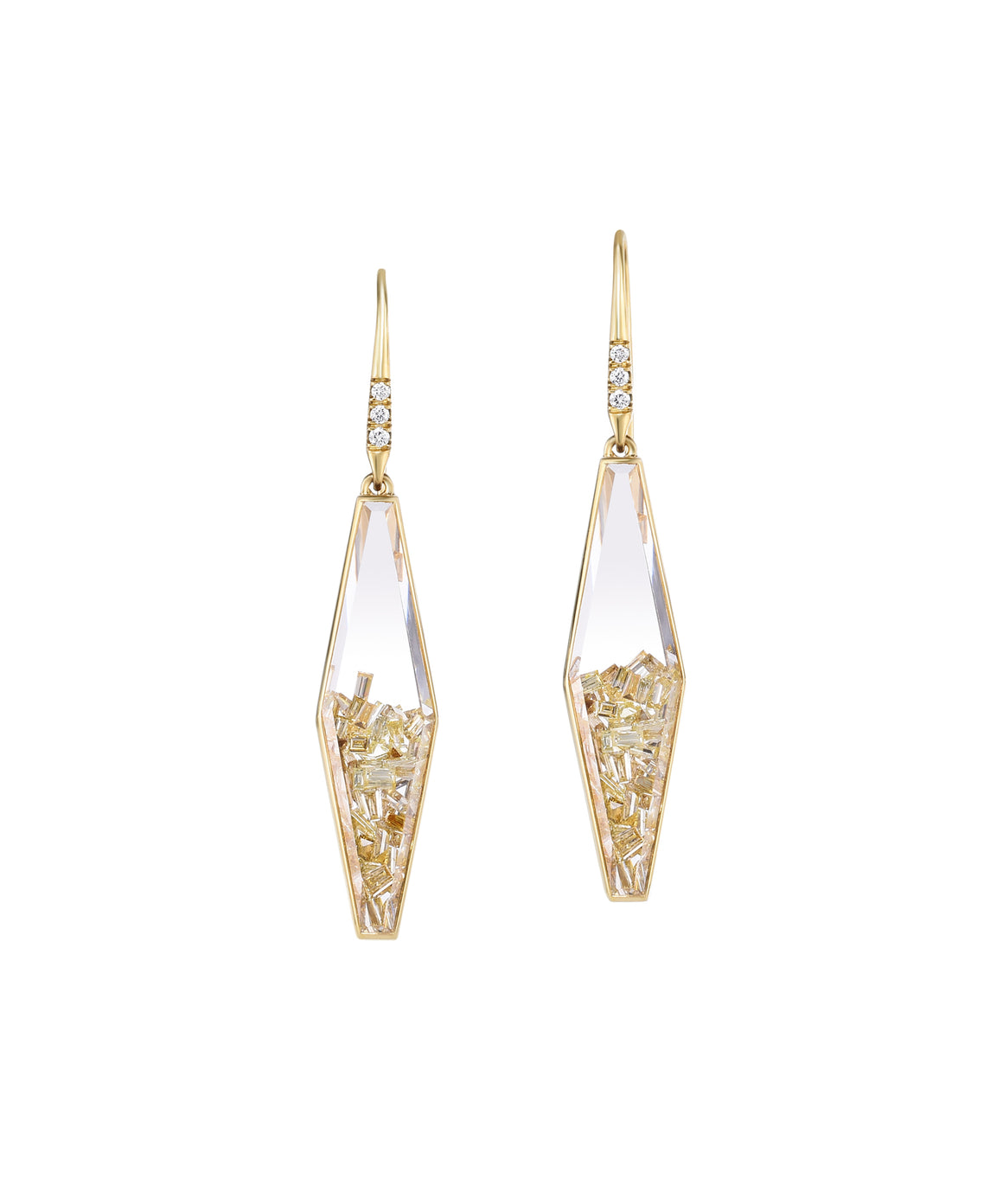 Diamond Shaped Shaker Earrings - Lesley Ann Jewels