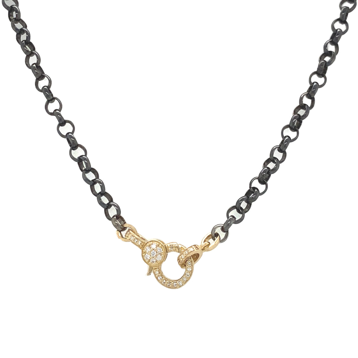 Chain with Gold Diamond Clasp