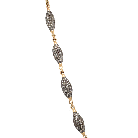 Long Diamond Marquis Link Chain - Lesley Ann Jewels